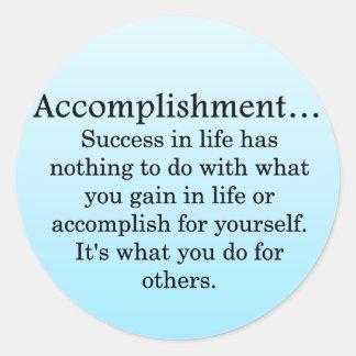 Accomplishment Sticker