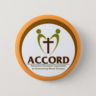 Accord Logo with tan background 2 Inch Round Button