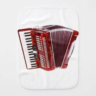 ACCORDIAN MUSICAL INSTRUMENT BURP CLOTH