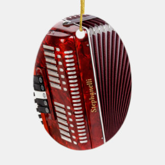 ACCORDIAN MUSICAL INSTRUMENT CERAMIC OVAL ORNAMENT