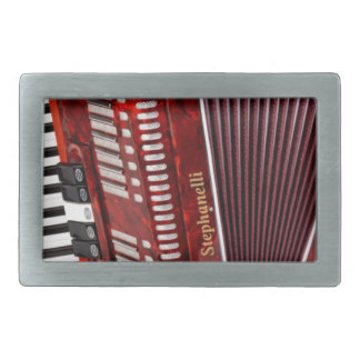 ACCORDIAN MUSICAL INSTRUMENT RECTANGULAR BELT BUCKLES