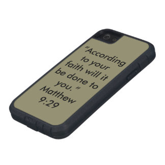 """According to your faith"" Iphone 5/5S and SE Cell iPhone 5 Cover"