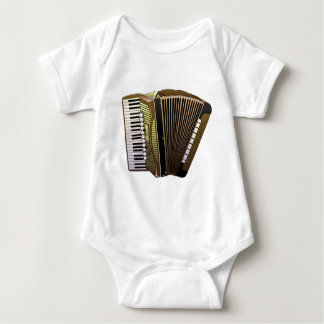 accordion all alone baby bodysuit