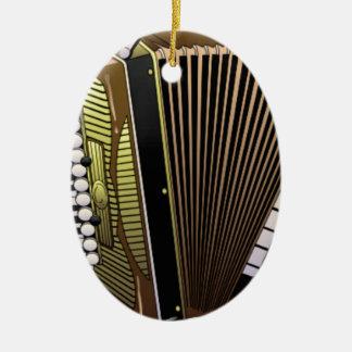 accordion all alone ceramic oval ornament
