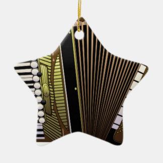 accordion all alone ceramic star ornament