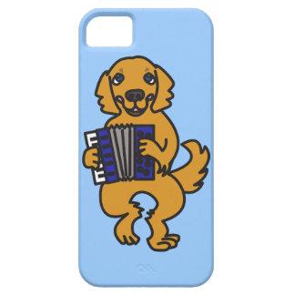 Accordion Golden Retriever iPhone 5 Case
