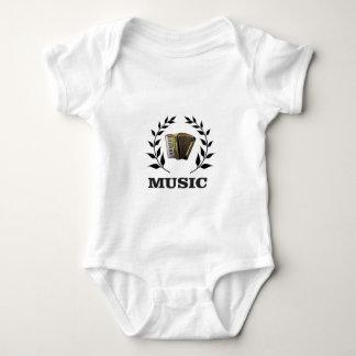 accordion music branch baby bodysuit