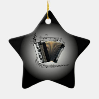 Accordion ~  Musical Globe ~ Musical Scale ~ Ceramic Ornament