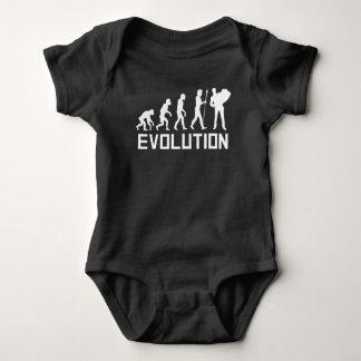 Accordion Player Evolution Baby Bodysuit