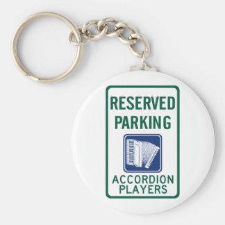 Accordion Player Parking Keychain
