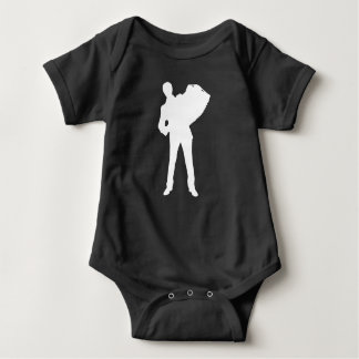 Accordion Player Silhouette Baby Bodysuit