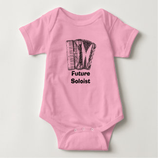 Accordion Shaped Word Art Black Text Baby Bodysuit