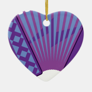 Accordion vector ceramic heart ornament