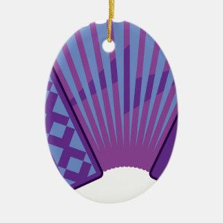 Accordion vector ceramic oval ornament