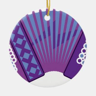 Accordion vector round ceramic ornament