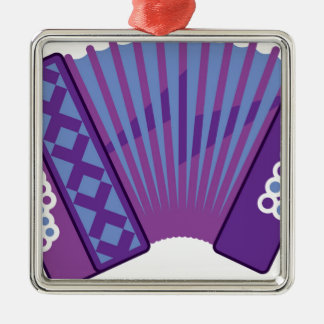 Accordion vector Silver-Colored square ornament