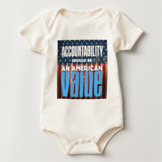 Accountability Should Be An American Value, Grunge Baby Bodysuit