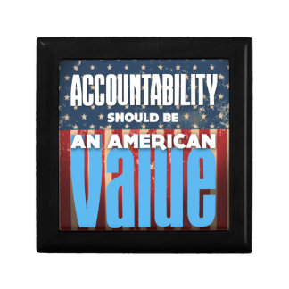 Accountability Should Be An American Value, Grunge Gift Box