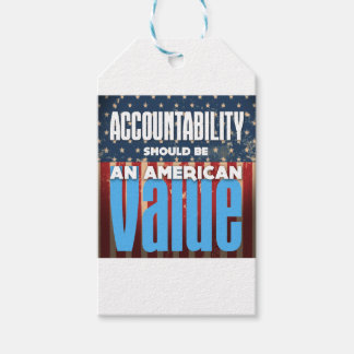 Accountability Should Be An American Value, Grunge Gift Tags