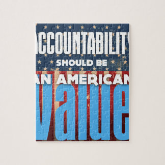 Accountability Should Be An American Value, Grunge Jigsaw Puzzle