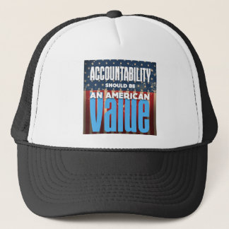 Accountability Should Be An American Value, Grunge Trucker Hat