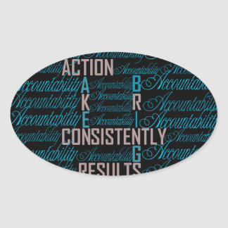 Accountability Word Art Quote Stickers