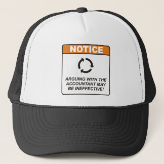 Accountant / Argue Trucker Hat