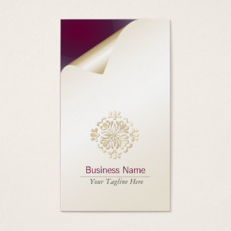 Accountant Business Card Gold Floral Flourish