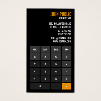 Accountant Calculator Financial Advisor Business Card