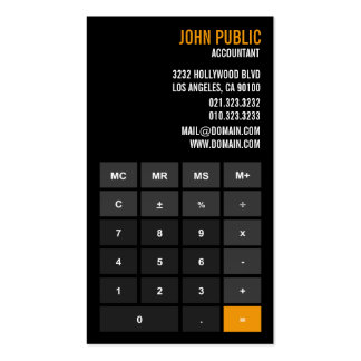Accountant Calculator Financial Advisor Pack Of Standard Business Cards