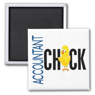 Accountant Chick Square Magnet