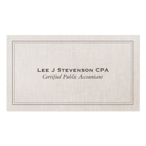 Accountant CPA Professional Simple Classic Business Card