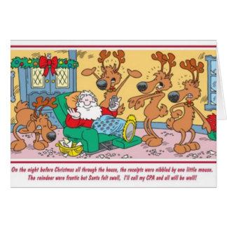 Accountant CPA Santa Call for Help Christmas Card