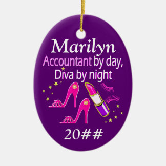 ACCOUNTANT DIVA PERSONALIZED ORNAMENT