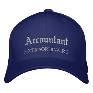 Accountant Extraordinaire Embroidered Hat