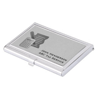 Accountant, Gray, Business Card Holder