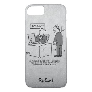 Accountant Invited to Score a Darts Match Case-Mate iPhone Case