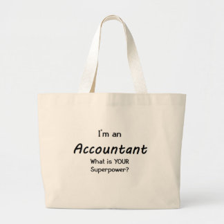accountant large tote bag