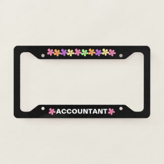 Accountant License Plate Frame Gift