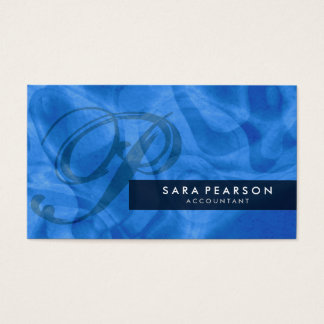 Accountant Monogram Abstract Business Card