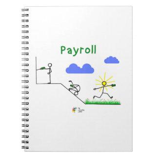 Accountant Notebook - Payroll Humor Art