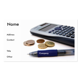Accountant Profile Card Pack Of Standard Business Cards