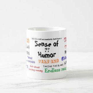 Accountant sense of humor coffee mugs