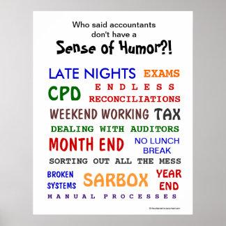 Accountant Sense of Humor Poster