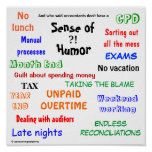 Accountant Sense of Humour Poster