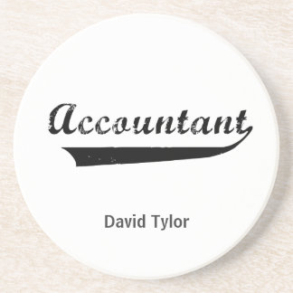 Accountant Sports Style Text Coasters
