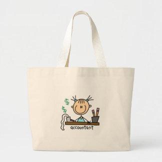 Accountant Stick Figure Bag