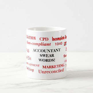 Accountant Swear Words! Joke Accounting Terms Coffee Mug
