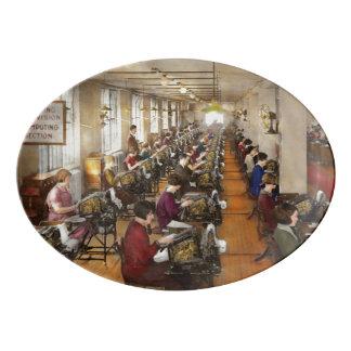 Accountant - The enumeration division 1924 Porcelain Serving Platter