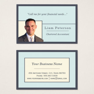 Accountant Trendy Indigo Hues Edge Nested Template Business Card